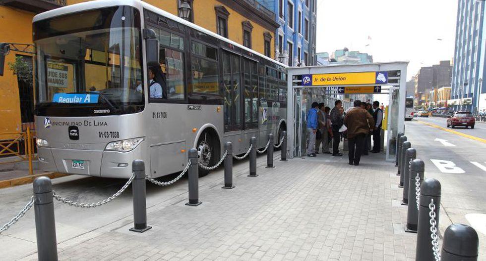 El Corredor Metropolitano fue puesto en servicio el 28 de julio del año 2010, durante la segunda gestión del alcalde Luis Castañeda Lossio. (Foto: El Comercio)