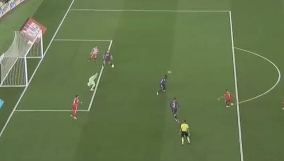 Christian Stuani le anotó un doblete a Barcelona por la Liga. (Captura: YouTube)