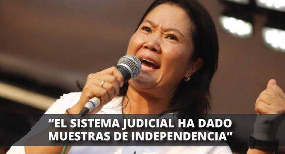 Keiko Fujimori se pronunció sobre la situación de la ex pareja presidencial.