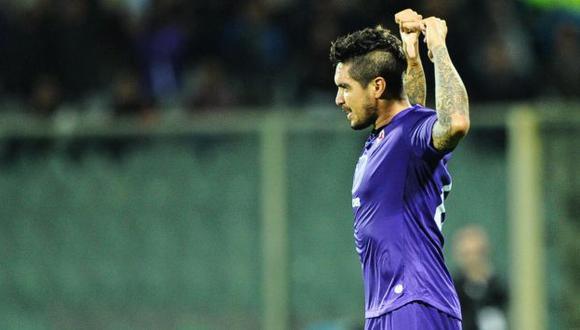REVANCHA. Vargas se señala el número durante su festejo ante Parma. Marcó luego de 29 meses. (EFE)