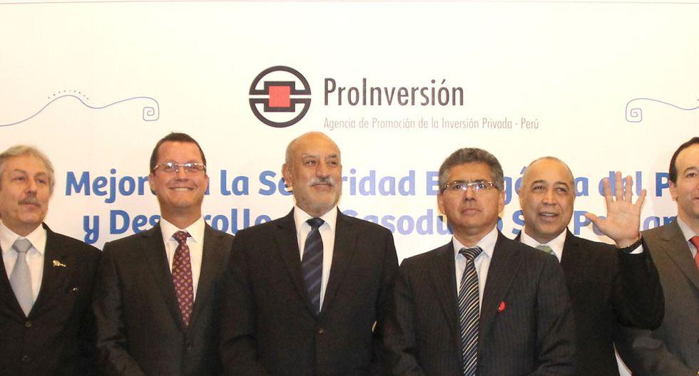 EL DÍA DEL ANUNCIO. El 30 de junio de 2014, Barata, Mayorga y Ramírez celebraran la adjudicación del Gasoducto del Sur a Odebrecht. (foto: Proinversión)