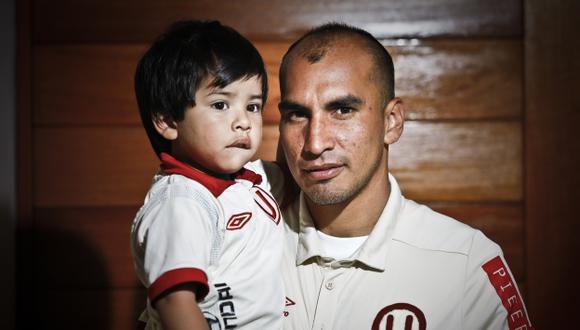 """Rainer Torres: """"Mi hijo fue la cábala para campeonar"""". (Andrés Valle/USI)"""