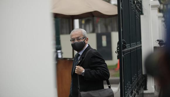 Suspendido fiscal supremo a su llegada al Congreso (Anthony Niño de Guzmán/GEC).