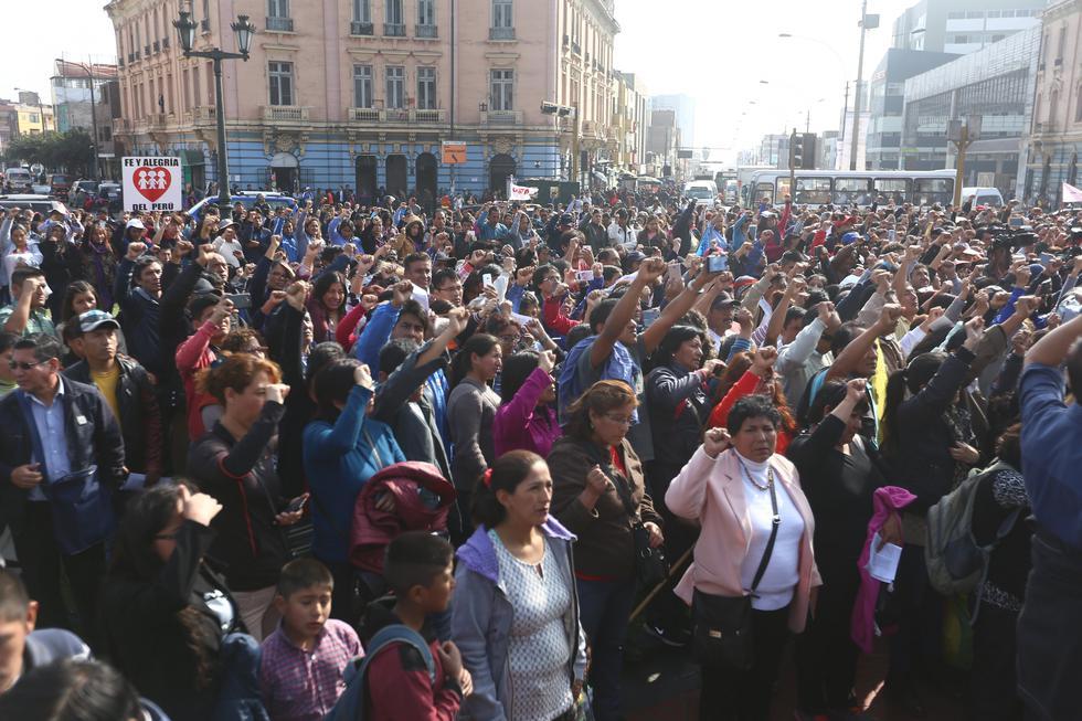 Huelga de maestros (Lusi Centurión/Perú21)