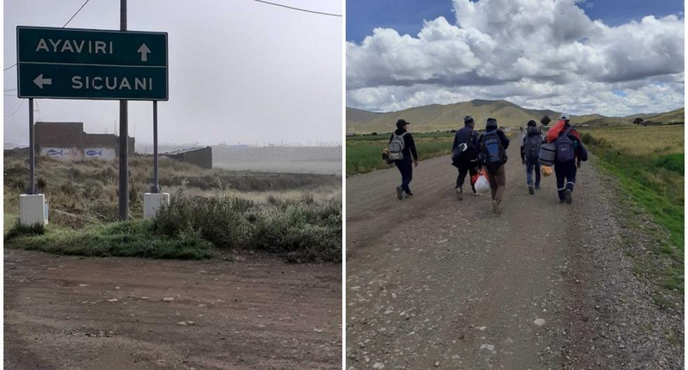 Pobladores de Huancavelica tienen varios días caminando en busca de regresar a su tierra. (Fotos: Tommy Navarro Arana)