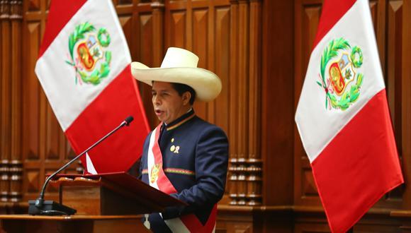Pedro Castillo, presidente de la República, anunció la creación del Ministerio de Ciencia, Tecnología e Innovación. (Foto: Congreso de la República)