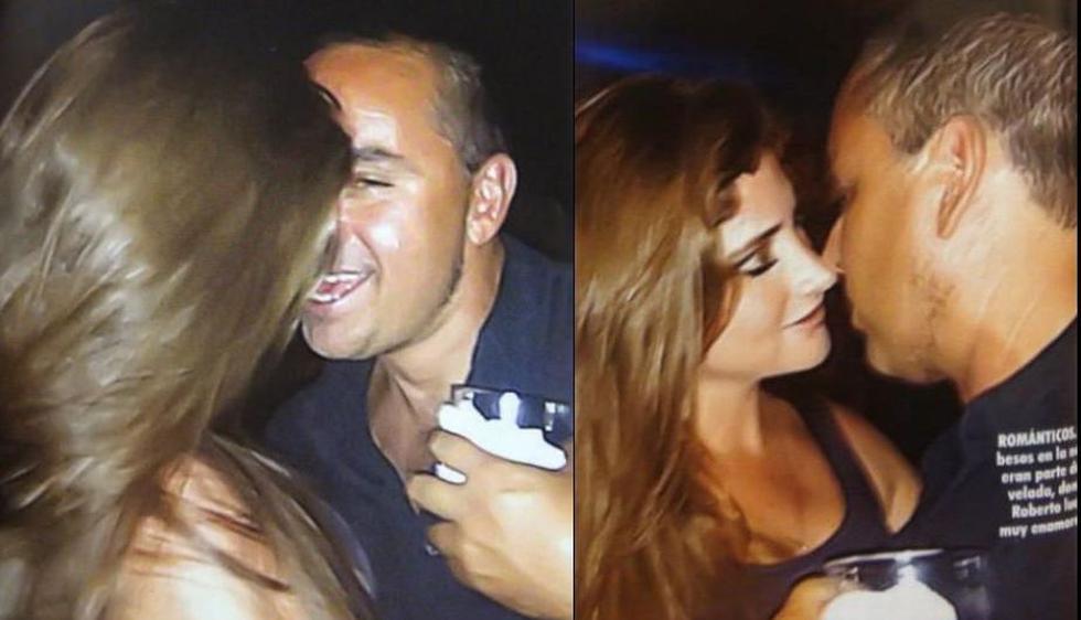 Roberto Martínez presentó a Maricielo Castañeda Serra como su novia en la fiesta de cumpleaños de José Francisco Crousillat. (Revista MagalyTeVe)