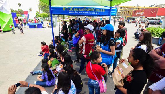 Evento de integración se llevó a cabo en la Plaza Manco Cápac, en el distrito de La Victoria. (Foto: Difusión)