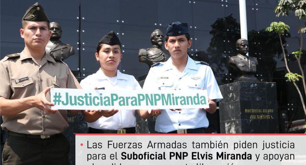 La imagen fue publicada por el Ministerio de Defensa en sus páginas de Facebook y Twitter.