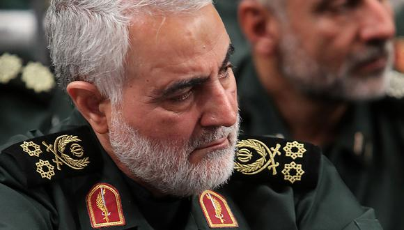 Imagen del 2 de octubre de 2019 muestra a Qassim Suleimani, comandante general de la Guardia Revolucionaria Islámica de Irán, muerto el 2 de enero por bombardeos de Estados Unidos en Bagdad. (Foto: AFP/Archivo)