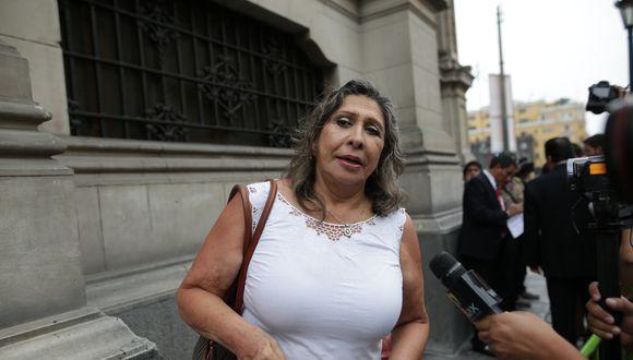 Zenaida Solís, vocera alterna del Partido Morado, cuestionó argumentos de Daniel Urresti sobre votación en el pleno. (Foto: GEC)