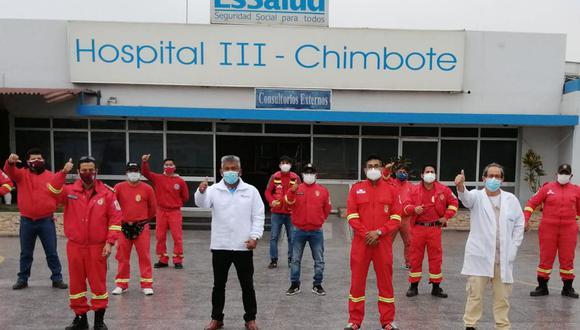 Áncash: EsSalud aplicó pruebas moleculares a bomberos para descartar COVID-19 (Foto: Andina)