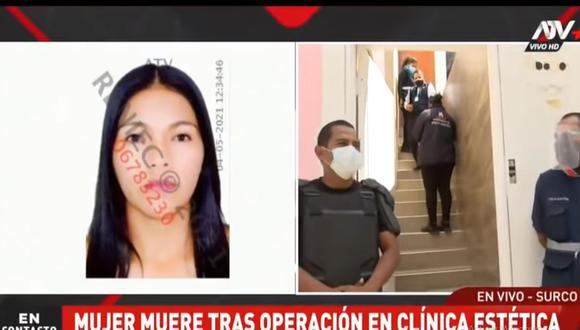 La Policia llegó al local ubicado en la cuadra 25 de la avenida Caminos del Inca para investigar la muerte de Epifania Vega Chuqui. (ATV+)