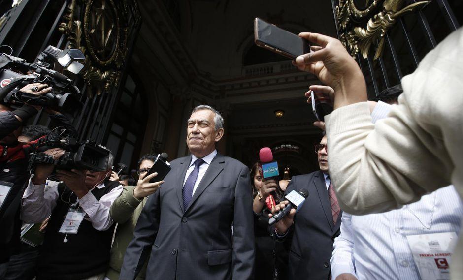 César Vizcarra acudió al Congreso la semana pasada para responder por contratos de su empresa CyM Vizcarra (Mario Zapata/GEC)