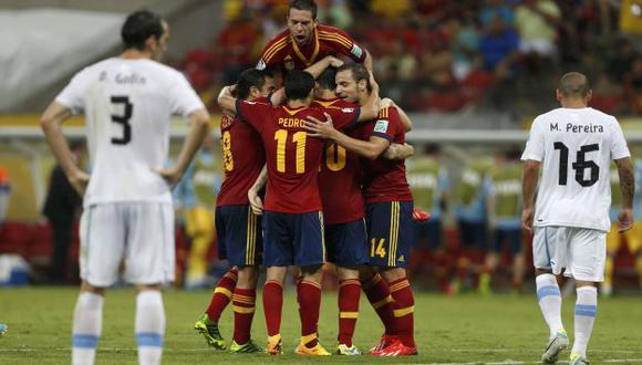 IMPARABLE. España mostró el nivel del que venia precedido. (Reuters)