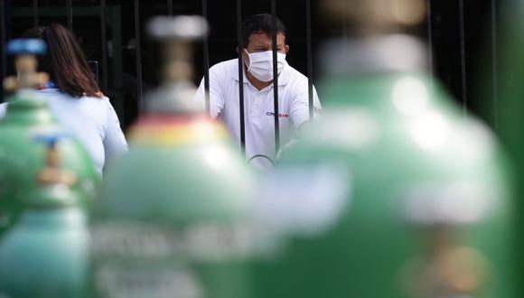 José Luis Barsallo reiteró que sus trabajadores y él continúan recibiendo diversas amenazas por vender el oxígeno a precio justo en el Callao (Foto: Fernando Sangama / @photo.gec)