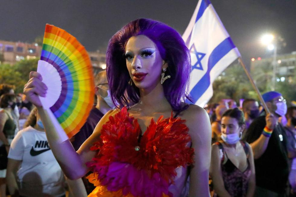 Miles israelíes asistieron hoy a una serie de eventos con ocasión del mes del orgullo LGBT. (AFP/JACK GUEZ).