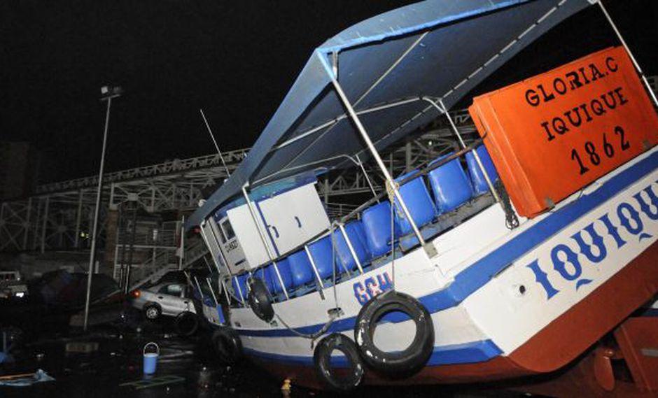 Chile: Daños en caleta de Iquique. (Reuters)