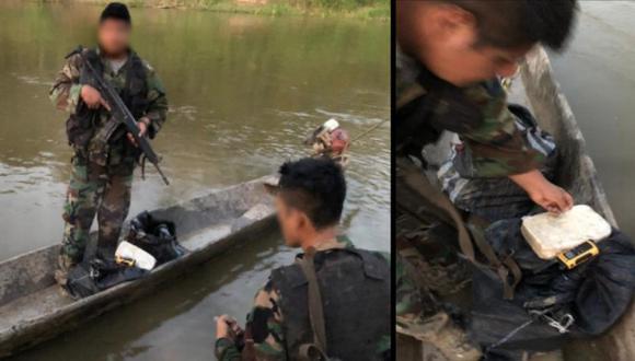 Ucayali: tres sujetos fugan de intervención policial y abandonan embarcación fluvial con cocaína (Foto: PNP)
