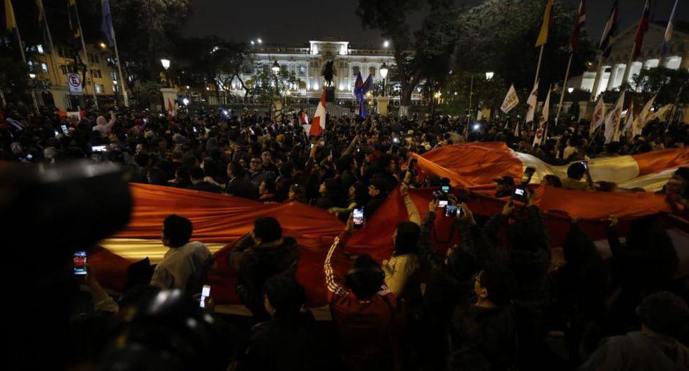 Así luce el Centro Histórico tras anuncio de Martín Vizcarra sobre el cierre del Congreso. (Piko Tamashiro/GEC)