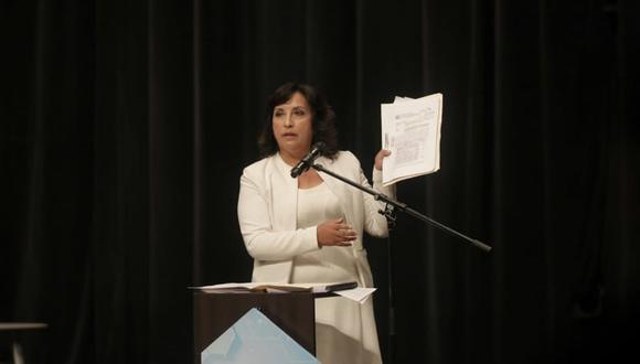 Desmentida. Dina Boluarte dijo que el expresidente Alberto Fujimori no había pisado su tierra Chalhuanca (Apurímac). (GEC)