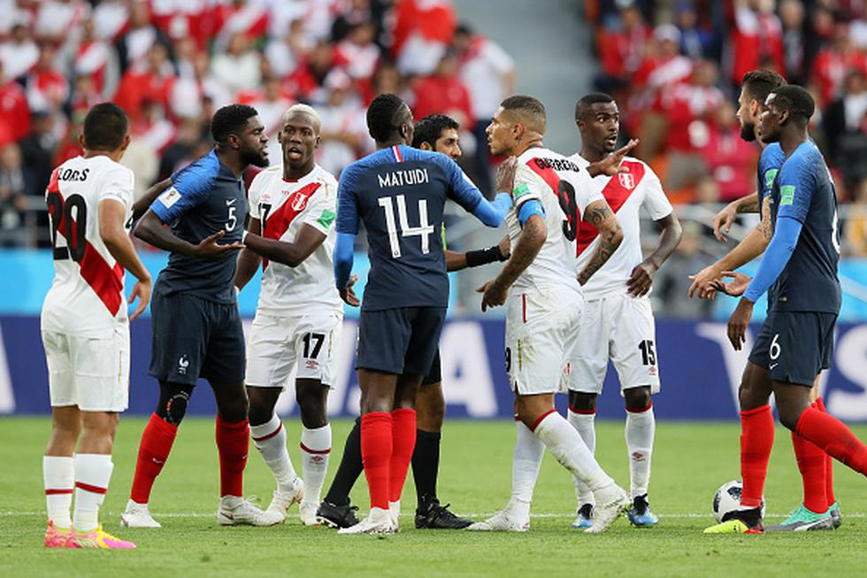 Perú vs. Francia. (Getty)