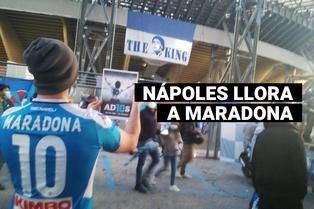 Hinchas del Napoli rinden homenaje a Diego Armando Maradona