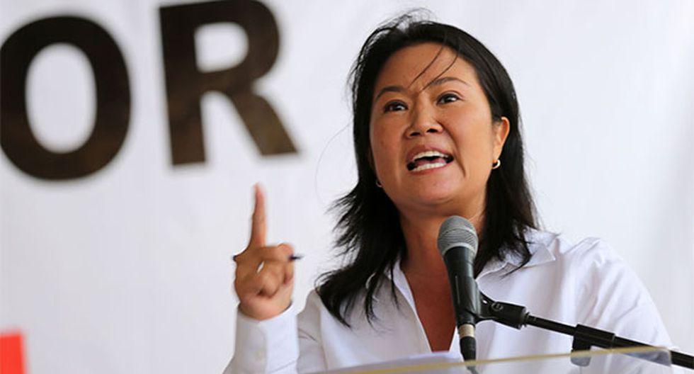 Keiko Fujimori no mencionó en ningún momento la propuesta de referéndum del presidente Martín Vizcarra. (Foto: Agencia Andina)