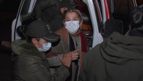 La expresidenta interina de Bolivia Jeanine Áñez fue trasladada a otra prisión en La Paz (Bolivia). (Foto: EFE/ Stringer)