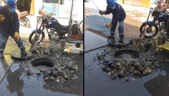 Chiclayo: Desagües se deterioran por excesivo arrojo de grasas y restos de comida (Foto: Sandro Chambergo)