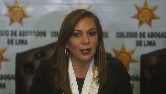 María Elena Portocarrero llamó a que se respete el orden jurídico y en especial la figura de la presunción de inocencia. (FOTO: USI)