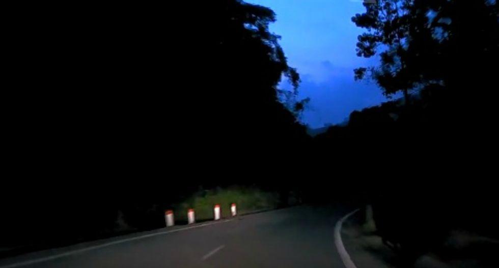 Responsable de la filmación señaló que la carretera es conocida por ser peligrosa debido a que varios animales la cruzan de forma repentina. (Foto: Captura/YouTube)