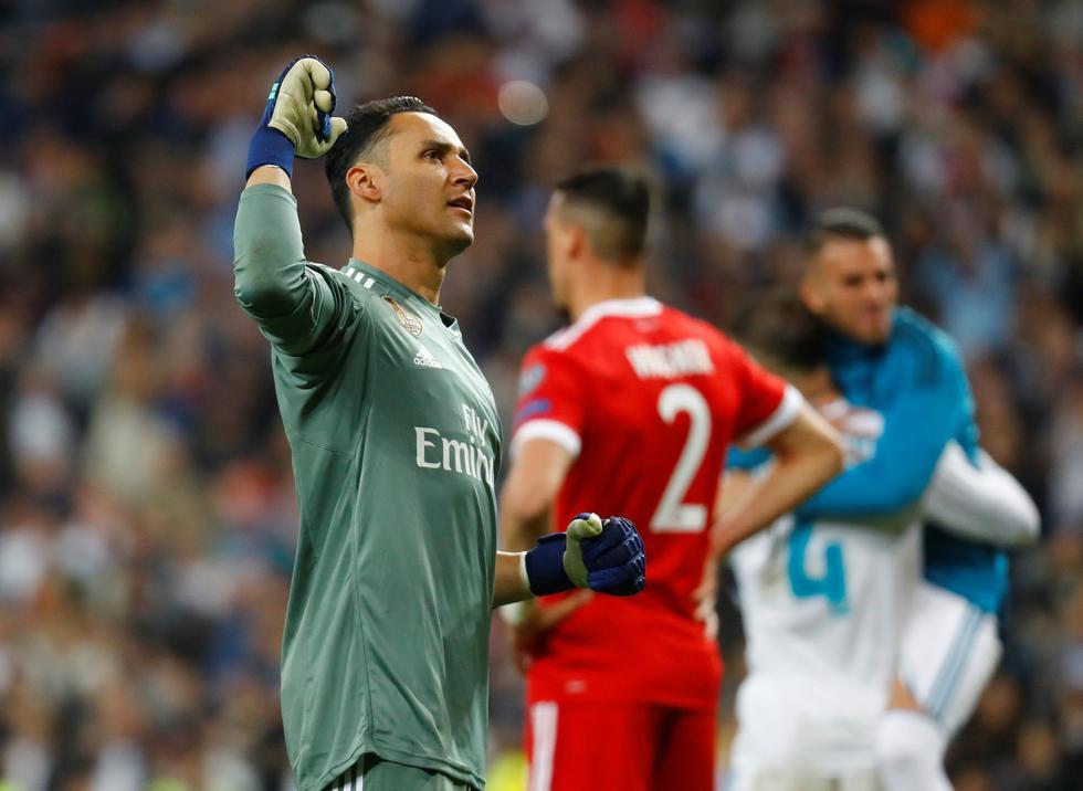 Keylor Navas brilló en la semifinal de vuelta entre Real Madrid y Bayern Munich por la Champions League. (REUTERS)