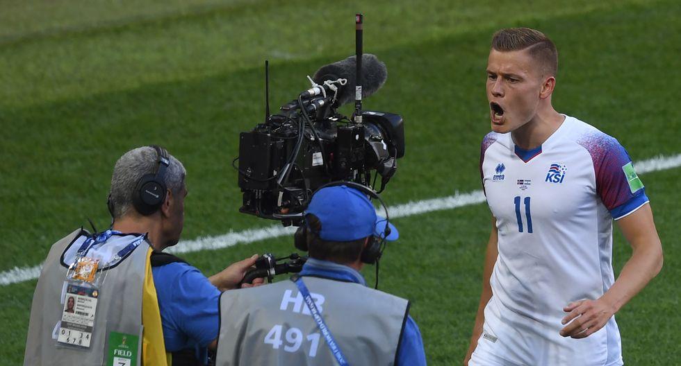 Argentina vs. Islandia empatan 1-1. (AFP)