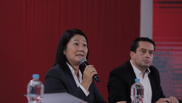 Fija postura. Keiko Fujimori se pronunció sobre plazos brindados por el JNE e hizo un llamado a la búsqueda de la verdad sobre las elecciones. (GEC)
