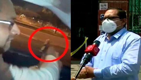 Gianpierre Galarza Matos, sujeto que realizó disparos al aire en la Av. Javier Prado, llegó hasta la Depincri de Ate para colaborar con la investigación policial. (Captura: América Noticias)