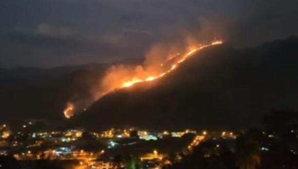 Incendio en Chanchamayo. (Captura de TV)