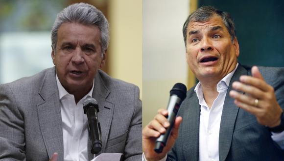 Moreno fue vicepresidente de Correa entre 2007 y 2013, y ambos sostienen una pugna de poder que llevó a la crisis al oficialismo. (Foto: EFE).
