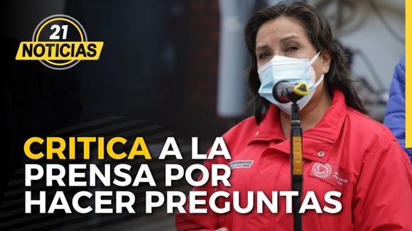Vicepresidenta Boluarte crítica a la prensa por hacer preguntas