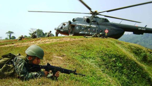 El soldado fue alcanzado por uno de los disparos de los subversivos a la base militar. (USI/Referencial)