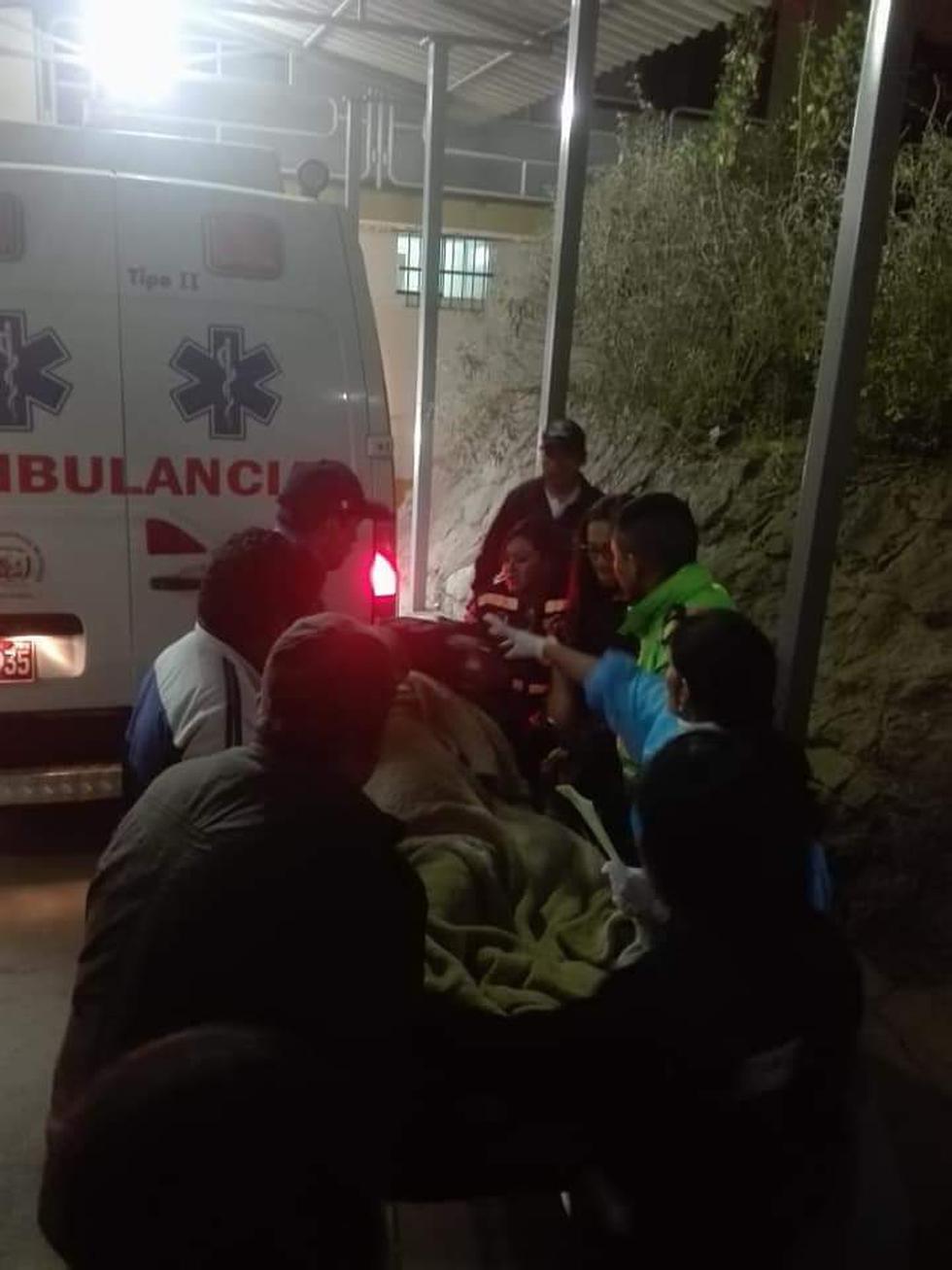 Víctimas fueron llevadas al hospital regional. (Red de Salud Otuzco)