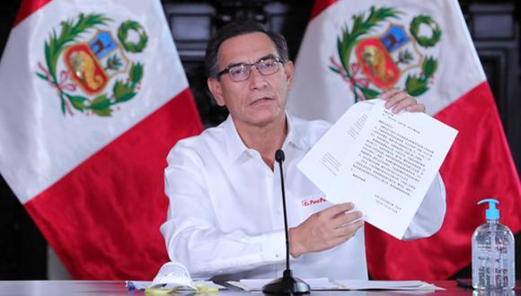 El presidente Martín Vizcarra dijo que hay pruebas moleculares en stock, y que llegarán en los próximos días a través de donaciones y compras. (Foto: Difusión)