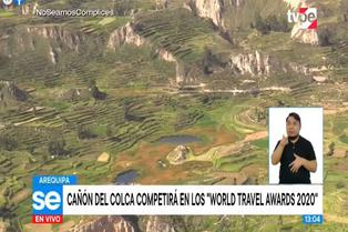 Cañón del Colca compite como mejor destino turístico de Sudamérica