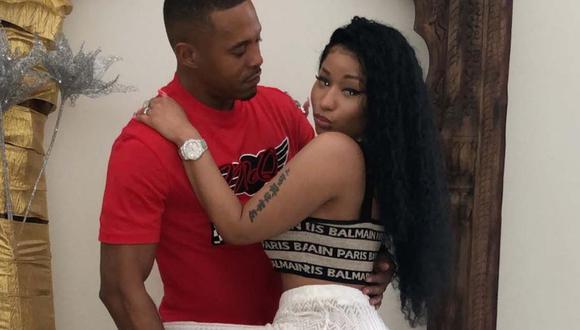 La rapera Nicki Minaj compartió esta fotografía junto a su nueva pareja, Kenneth Pett. (Foto: @nickiminaj)