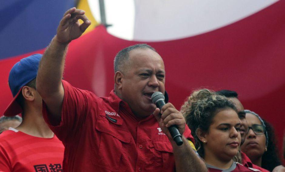 """Cabello dijo que aunque Trump imponga un bloqueo de las costas, el cielo o las fronteras terrestres venezolanas, no podrá """"bloquear a un pueblo que se siente libre"""".(Foto: AFP)"""