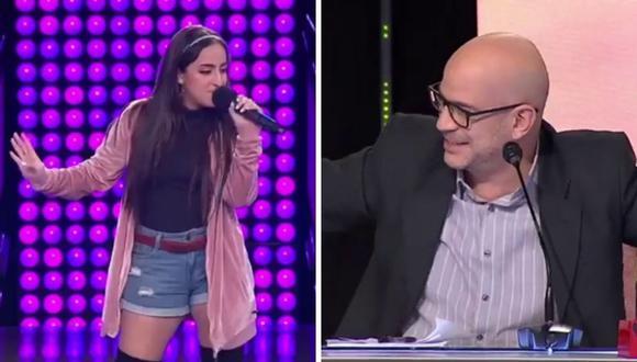 """Una imitadora de Danna Paola encantó al jurado con su interpretación de """"Mala Fama"""". (Foto: Captura Latina)."""