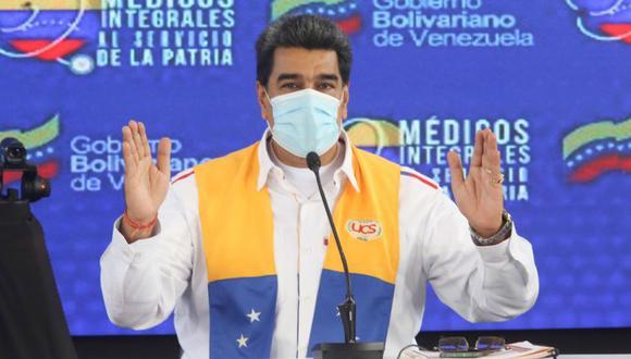 """Nicolás Maduro asegura que la vacunación en su país """"iniciará entre diciembre y enero"""" EFE/PRENSA MIRAFLORES /NO VENTAS /SOLO USO EDITORIAL"""