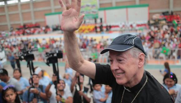 Juan Luis Cipriani confía en un triunfo de Perú. (El Comercio)