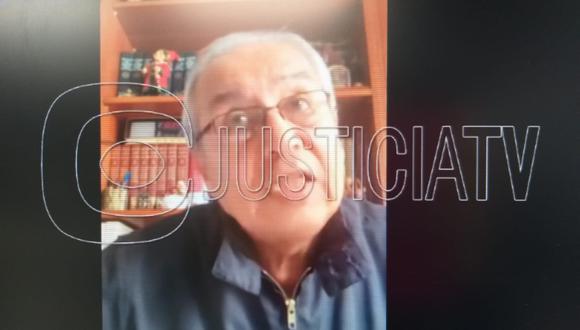 Pedro Chávarry participó en la audiencia de apelación en forma virtual. (Foto: Justicia TV)