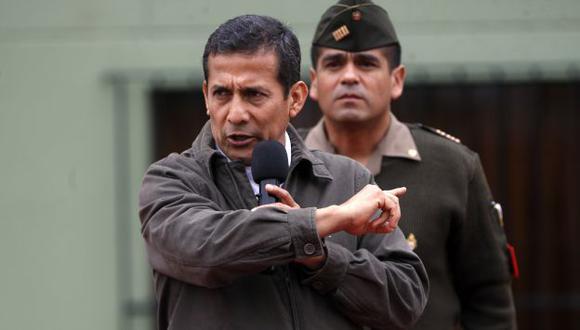 Ollanta Humala dijo que es necesario renovar las instituciones. (David Vexelman/Peru21)